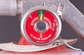 stock photo of retarded  - Fully Charged Meter on Fire Extinguisher Gauge - JPG