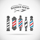 Постер, плакат: Barber shop pole