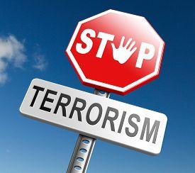 image of terrorist  - stop terrorism war on terror no terrorist attacks - JPG