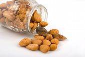 Almonds In Glass Pot