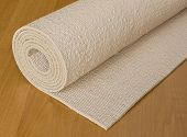picture of yoga mat  - rolled up execise mat used for yoga or pilates - JPG