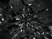 Damaged Or Broken Glass On Black poster