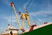 Profile Of A Big Dutch Iron Fishing Cutter