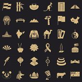 Landmark Icons Set. Simple Style Of 36 Landmark Vector Icons For Web For Any Design poster