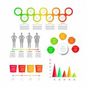 Modern Creative Infographics Elements Collection. Gradient Objects With Numbers And Text, Timeline I poster