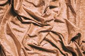Gold Or Copper Colored Luxury Panne Velvet Drape Background Texture poster