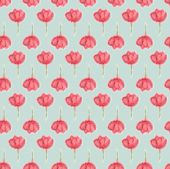Watercolour Spring Flower, Faded Seamless Pattern, Blur Floral Aquarelle Wallpaper. Blured Water Col poster