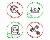 Do Or Stop. Analytics Chart, Analytics And Copywriting Notebook Icons Simple Set. Share Sign. Report poster