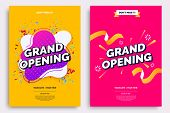 Grand Opening Invitationt Template. Colorful Creativity Design With Bold Text, Bright Background And poster