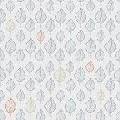 Seamless Leaf Pattern On A Beige Background, Abstract , Leaf Fall, Defoliation, Autumn Leaves , Fall poster