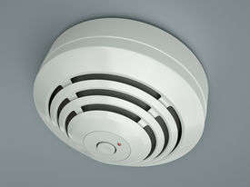 picture of smoke detector  - Smoke detector attached to the ceiling - JPG