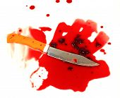 A Knife Smeared With Blood. A Murder Weapon. Symbolist Crime poster