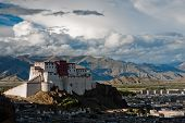 image of lamas  - An image of Shigatse Dzong - JPG