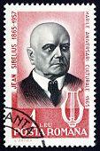 Постер, плакат: Почтовая марка Румыния 1965 Сибелиуса финский композитор
