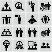 Business persons, businessman, management, human resources. Icons set.