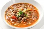 picture of italian parsley  - homemade minestrone soup - JPG