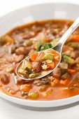 homemade vegetable soup, italian cuisine