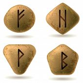 pic of rune  - Runes Engraved on Stone - JPG