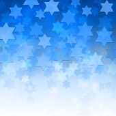 stock photo of hanukkah  - elegant jewish background with Magen David stars and place for text - JPG