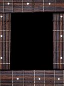 stock photo of fret  - Guitar music frame with fret boards and copy space - JPG