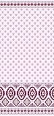 stock photo of bordure  - pattern with small flowers and a wide border in shades of purple and lilac - JPG