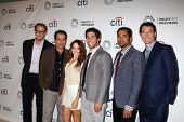 LOS ANGELES - SEP 6:  Rob Greenberg, Tony Shalhoub, Rebecca Breeds, Chris Smith, Kal Pen, Jerry O'Co