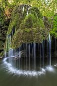picture of intersection  - Waterfall Bigar. Located at the intersection with the parallel 45 in Romania.