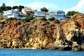 pic of vilamoura  - Cliffs Baleeira Albufeira in the Algarve Portugal - JPG