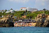 stock photo of vilamoura  - Beach Arrifes Albufeira Algarve Portugal summer sea - JPG
