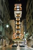 Lisbon, Portugal - July 10, 2013: Santa Justa elevator in the Baixa District. 19th cent. project by