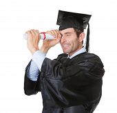 Graduate Student Looking Into The Future