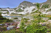 High Altitude Alpine Tundra And A Mountain Lake In Colorado During Summer
