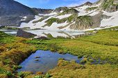 High Altitude Alpine Tundra And Lake In Colorado During Summer
