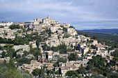 stock photo of hilltop  - Hilltop medieval village of Gordes in France - JPG