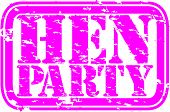 image of hen party  - Grunge hen party rubber stamp - JPG