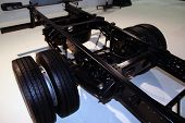 stock photo of chassis  - Brand new truck chassis - JPG