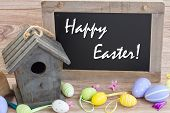 foto of easter decoration  - easter decoration with eggs  - JPG