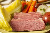 picture of st patty  - Homemade Corned Beef and Cabbage with Potatoes and Carrots - JPG
