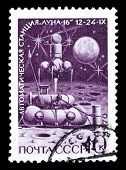 Ussr Stamp, Automatic Moon Station