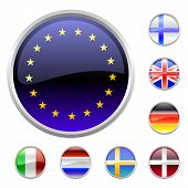 Round Buttons Set-europe poster