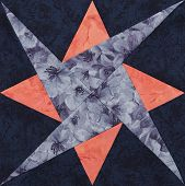image of quilt  - Detail of the quilt from pieces of fabric - JPG