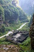 stock photo of penthouse  - Tienfu Penthouse at Wulong National Park - JPG