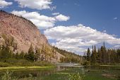 image of mammoth  - The beautiful Twin Lakes at Mammoth California