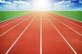 image of olympiad  - The Running track and sky  - JPG