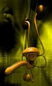 picture of scrotum  - digital illustration of male reproductive system in digital background - JPG