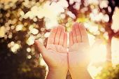 stock photo of faithfulness  - Praying hands - JPG
