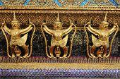 stock photo of garuda  - Golden Garuda At Wat Phra Kaew - JPG