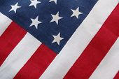 stock photo of betsy ross  - A  triangular view of an American Flag - JPG