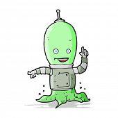 foto of spaceman  - cartoon alien spaceman - JPG