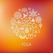 stock photo of studio  - Vector yoga logo  - JPG